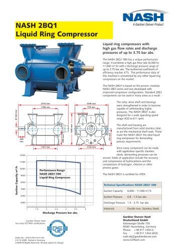 NASH 2BQ1 Liquid Ring Compressor