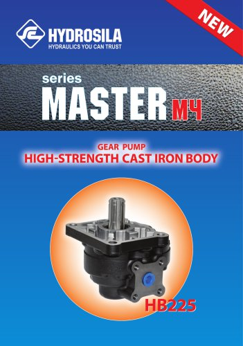 Cast iron gear pumps for hydraulic systems with max.continuous pressure 200 bar