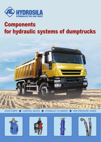 Components for hydraulic systems of dumptrucks Components for hydraulic systems of dumptrucks
