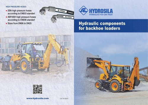 Hydraulic components for backhoe loaders