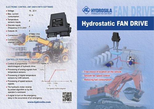 Hydrostatic FAN DRIVE