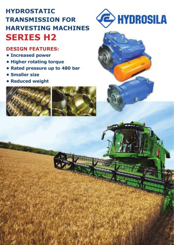 Hydrostatic transmission for harvesting machines Hydrostatic transmission for harvesting machines