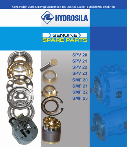 SPARE PARTS FOR AXIAL-PISTON UNITS