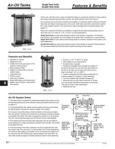 Air/Oil Tanks section of CV9 Catalog