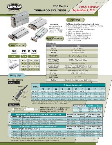 FDF Twin Rod Catalog