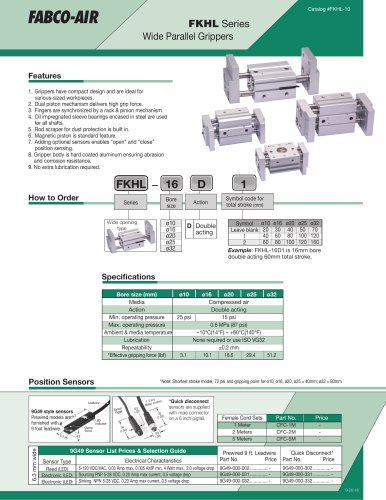 FKHL Series Wide Parallel Grippers