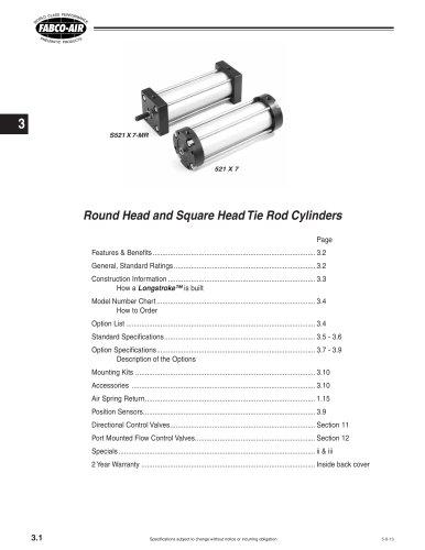 Longstroke Cylinder section of CV9