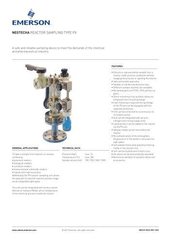 NEOTeCHA Reactor Sampling Type PV