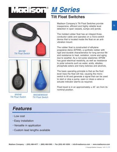 Tilt Float Switches (M Series)