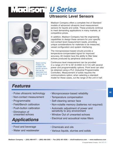 Ultrasonic Level Sensors (U Series)