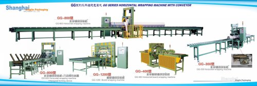 JLPACK Spiral orbital stretch wrapping machine for wrapping horizontal/straight objects GG series