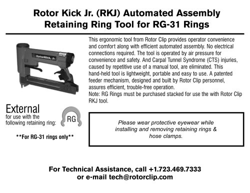 Retaining Ring Tool for RG-31 Rings