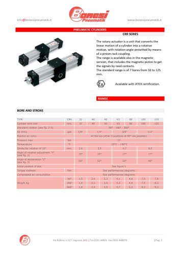 PNEUMATIC CYLINDERS CRR SERIES