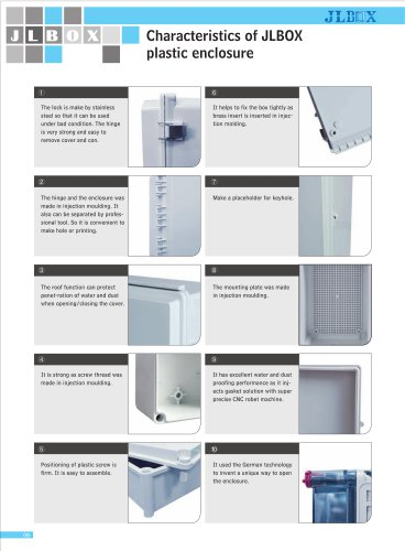 Characteristics of JLBOX plastic enclosure