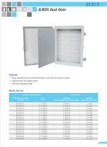 dual door|Double door plastic box|IP67 - 1