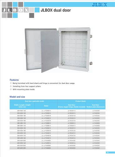 dual door|Double door plastic box|IP67