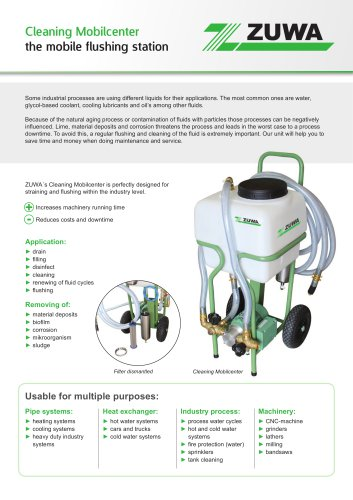 Cleaning Mobilcenter - the mobile flushing station