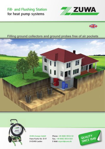 Fill- and Flushing Station for heat pump systems