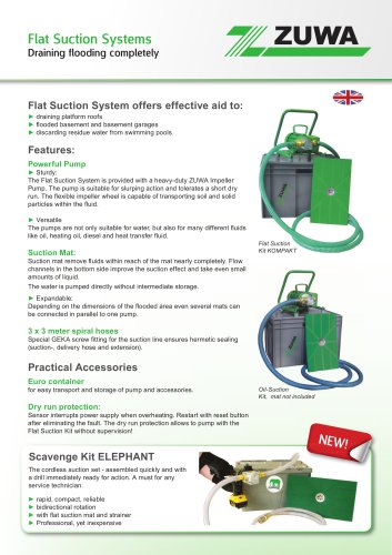 Flat Suction Systems - Draining flooding completely