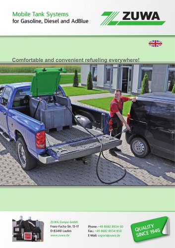 Mobile Tank Systems for Gasoline, Diesel and AdBlue