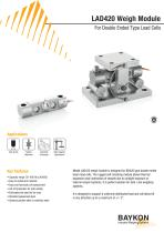 Baykon LAD420 Weigh Module For Double Ended Type Load Cells