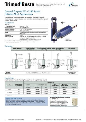 Data Sheet ELS-1100