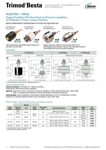Data Sheet LS-1700