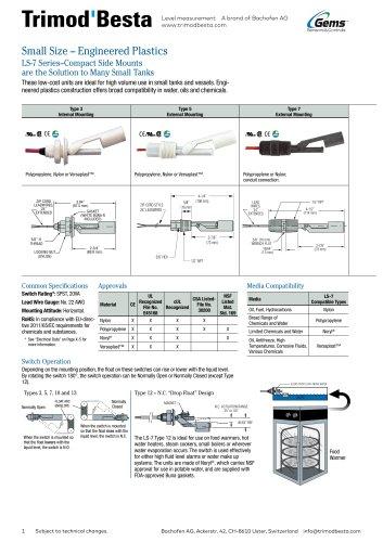 Data Sheet LS-7 range