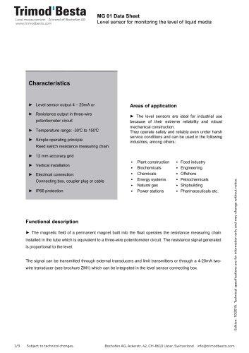 Data Sheet MG 01