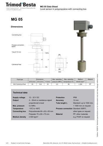 Data Sheet MG 05