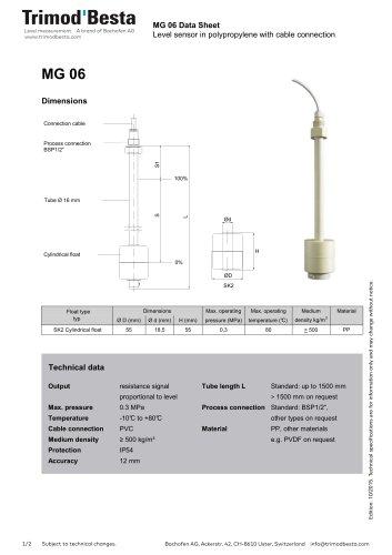 Data Sheet MG 06