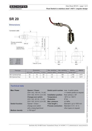 Data Sheet SR 20