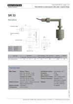 Data Sheet SR 33