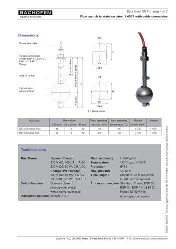 Data Sheet SR11