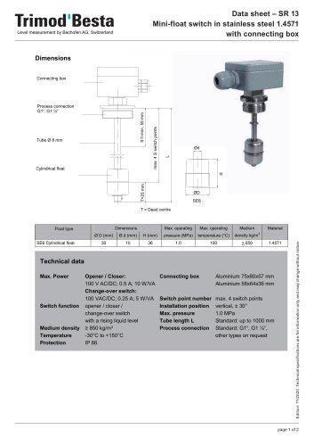 Data Sheet SR13