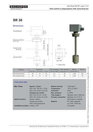 Data Sheet SR30