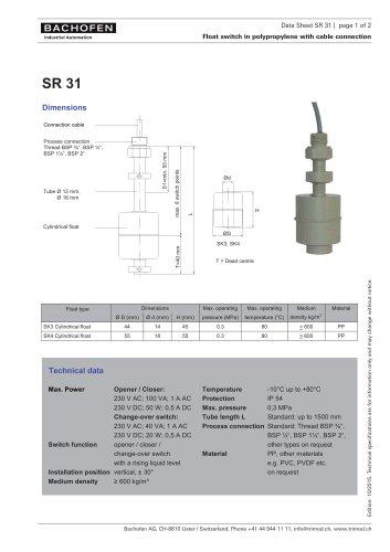 Data Sheet SR31