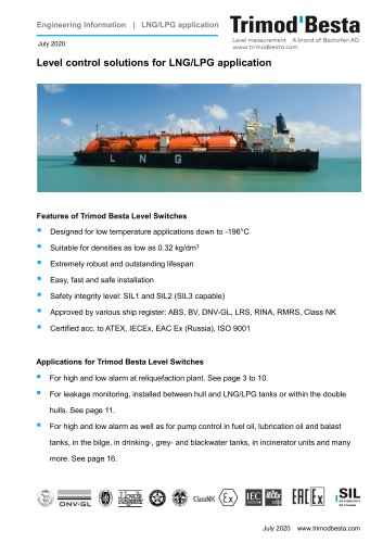 Engineering Information for LNG/LPG application