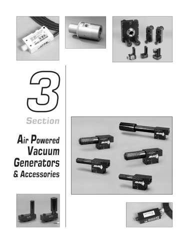 Air Powered Vacuum Generators & Accessories