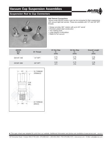 Vacuum Cup Suspension Assemblies