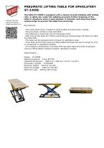 PNEUMATIC LIFTING TABLE FOR UPHOLSTERY ST-3/KRB