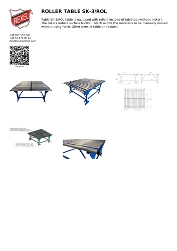 ROLLER TABLE SK-3/ROL