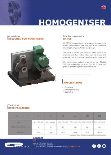 Homogeniser - EP MECA