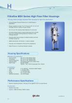 Filtrafine MSB Series High Flow Filter Housings