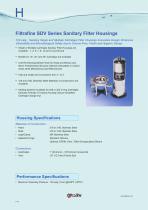 Filtrafine SDV Series Sanitary Filter Housings