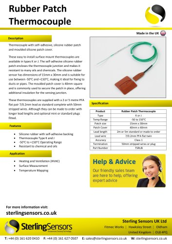 Rubber Patch Thermocouple