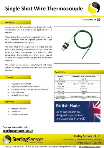 Single Shot Wire Thermocouple