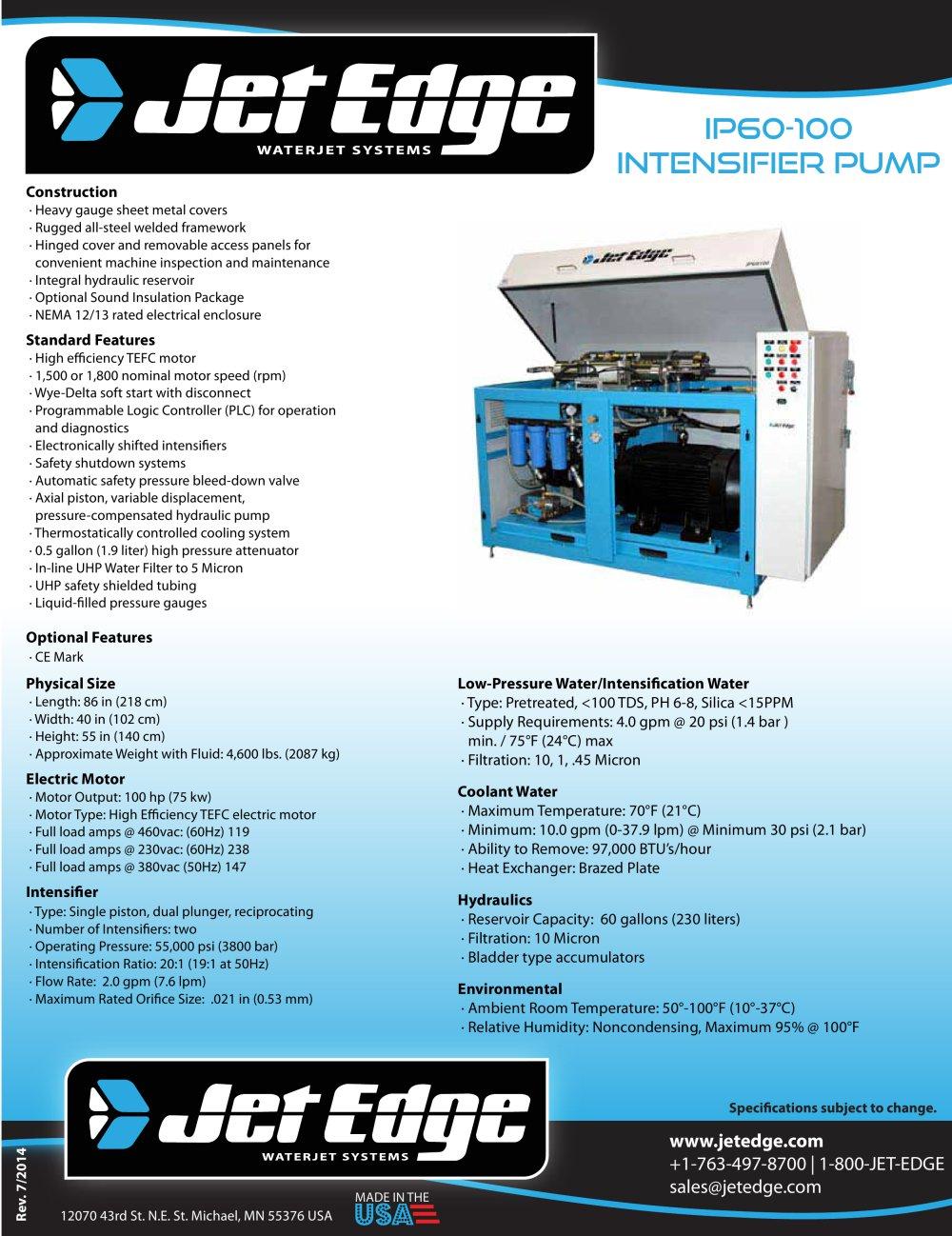 Ip60 100 Waterjet Intensifier Pump 1 Pages