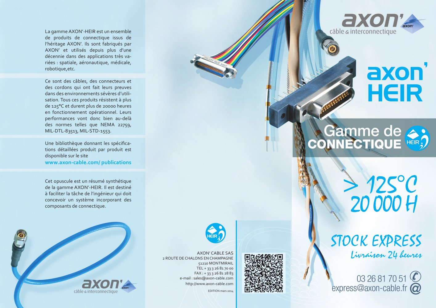 Axon Heir Gamme De Connectique 125 C Cable Pdf Wire Harness Resume 1 2 Pages
