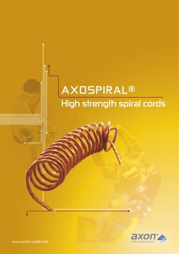 Axospiral, High strength spiral cords